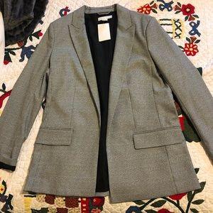H&M grey checkered blazer